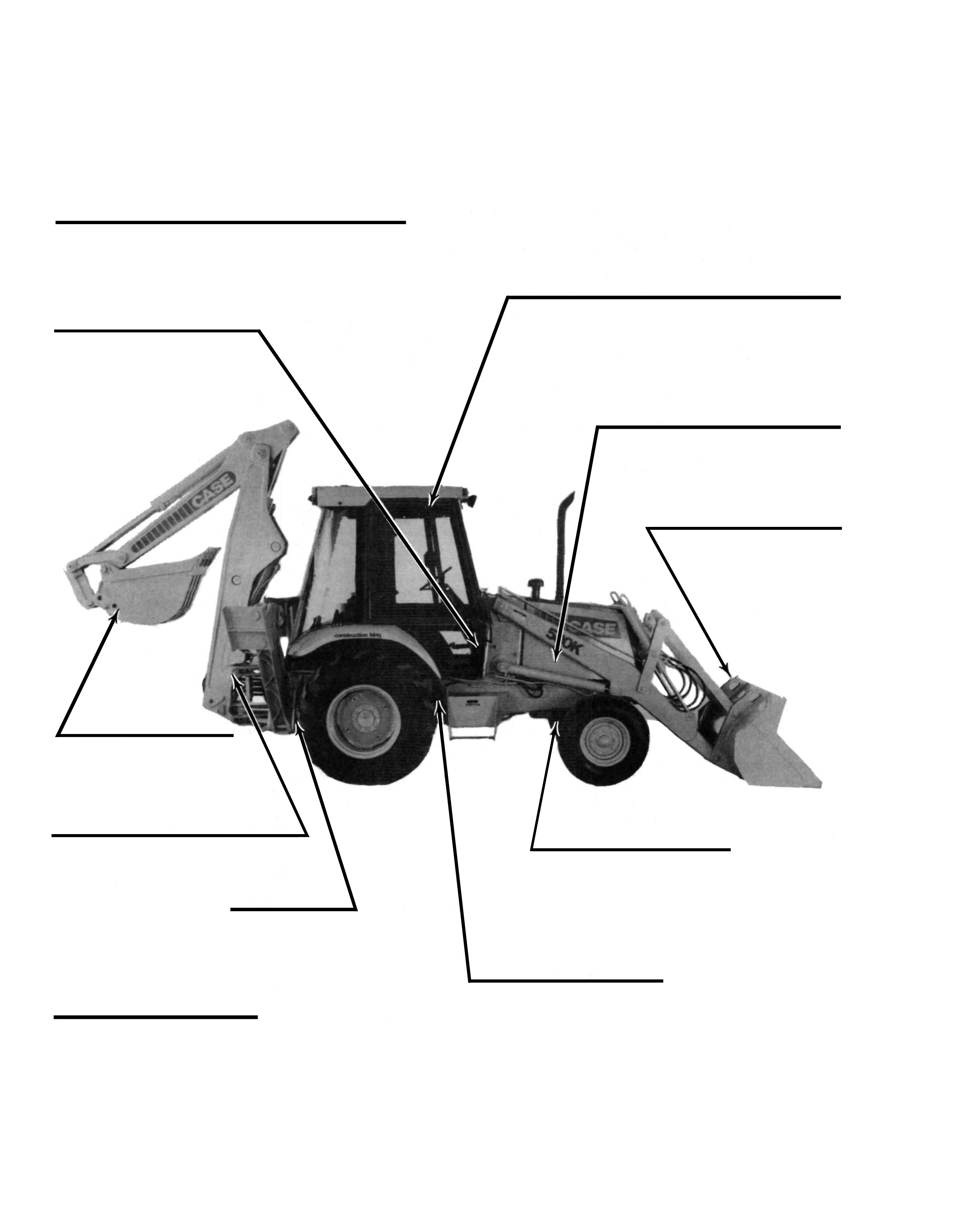 Case 580K Backhoe Serial Number Locations (580E)