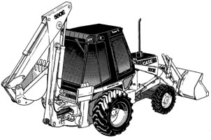 Case 580E/580 Super E Loader Backhoe Service Manual