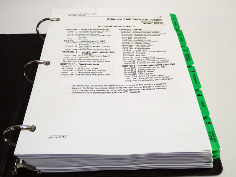 John Deere Service Manuals - John Deere 310A, 310B Backhoe