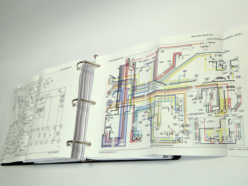 wiring diagram heater on john john deere service manuals - john deere  4040, 4240 tractor technical on john deere 4020