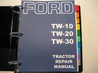 Ford TW-10, TW-20, TW-30 Tractor Service Manual