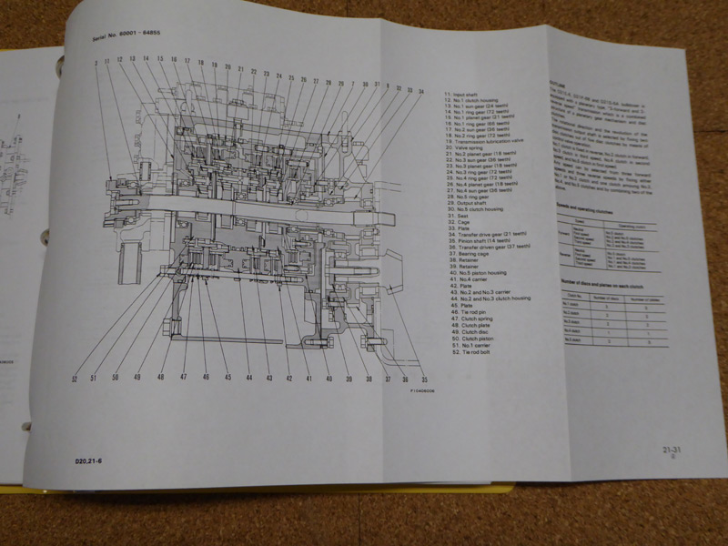 Komatsu Service Manuals - Komatsu D20/A/P/S/Q-6, D21A/P/S/Q