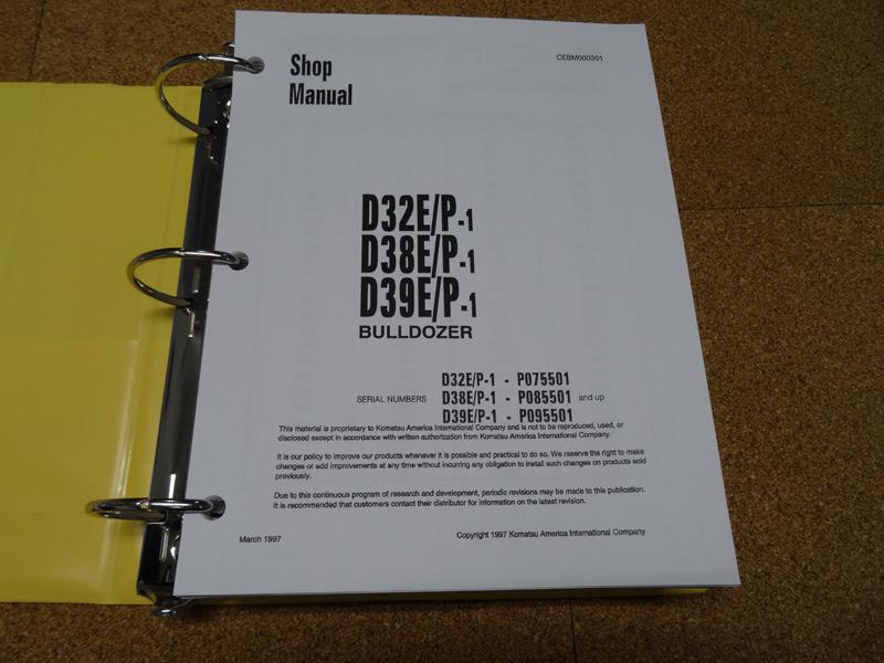 Komatsu Service Manuals - Komatsu D32E/P-1, D38E/P-1, D39E/P-1 Dozer