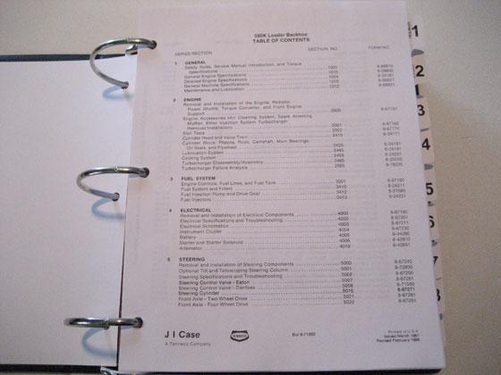 case 580k phase 1 loader backhoe service manual repair shop book rh ebay com case 580k owners manual case 580k owners manual