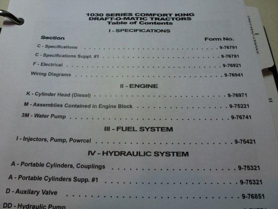 case 1190 tractor service manual