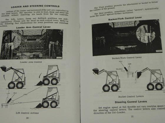 Case 1830 Uni-Loader Skid Steer Operators Manual Owners