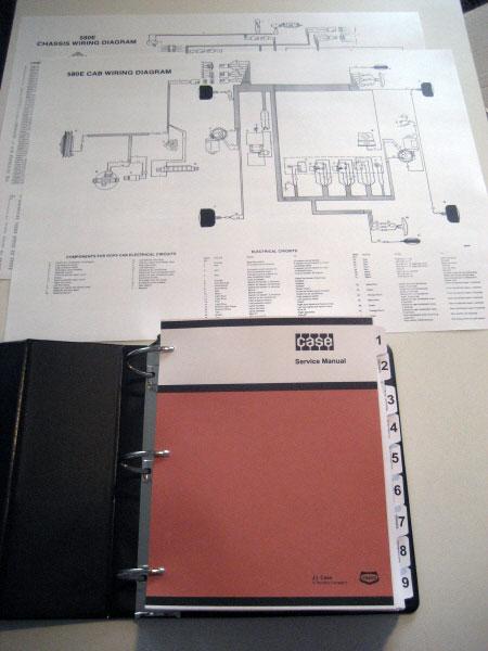 case 580e 580se 580 super e loader backhoe service manual repair rh ebay com Case 580 Backhoe Charging Circuit Case 580B Parts Diagram