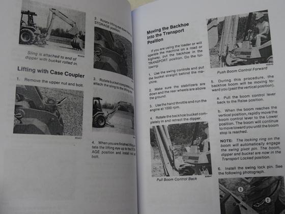 580e case backhoe Operators manual