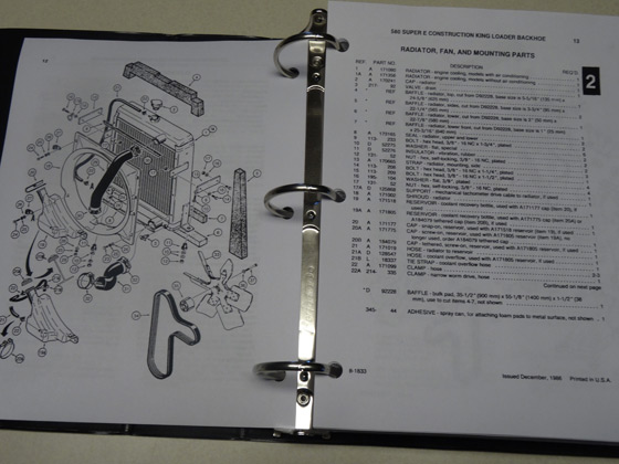Details about Case 580E/580SE/580 Super E Loader Backhoe Parts Catalog,  Manual, Book, NEW