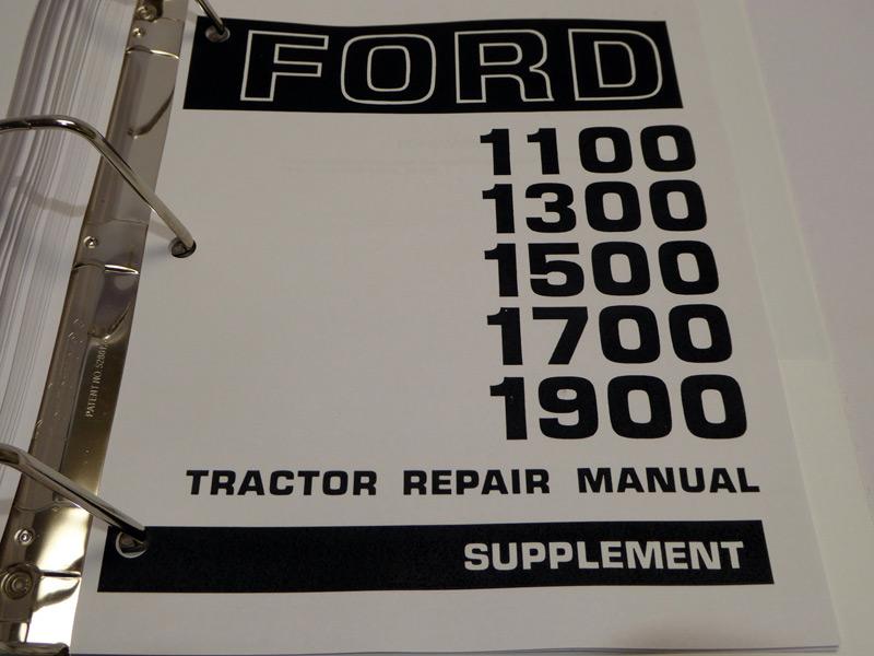 ford 1300  1500  1700  1900 tractor service manual repair