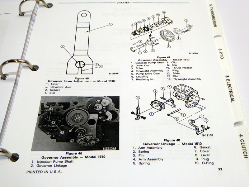 Ford 1310  1510  1710 Tractor Service Manual Repair Shop