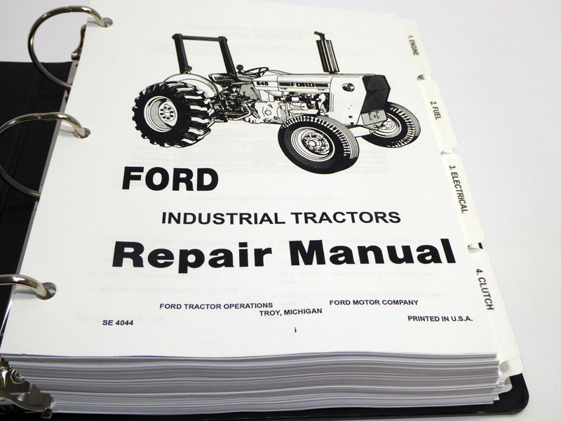ford 230a,340a,445,530a,540a,545 tractor service manual repair shop545 tractor loader backhoe service manual (se 4044) product images for larger images, see upper left corner of page