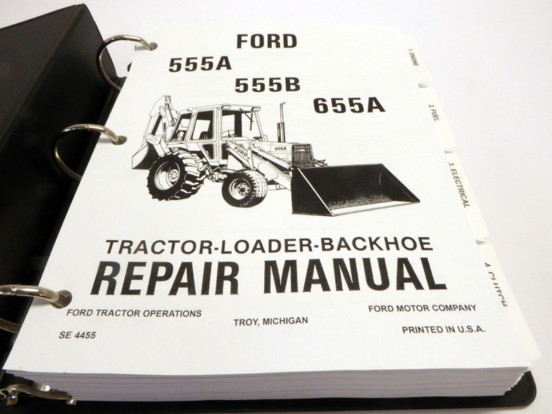 ford 555b backhoe service manual