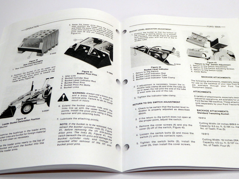 Ford 555d Backhoe Parts Diagram