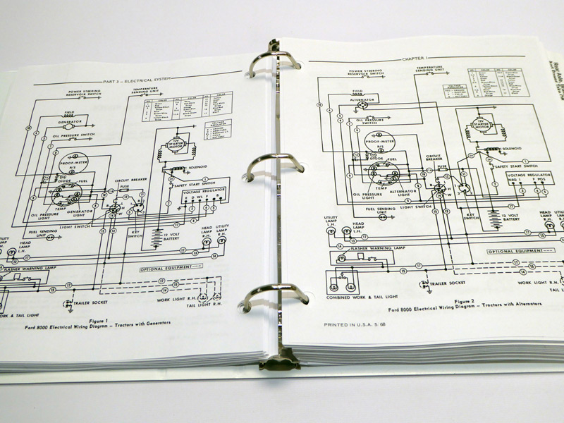 ford 8000 wiring diagram wiring diagramford 8000, 8600, 9000, 9600 tractor service manual repair shop book